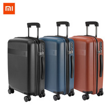 XIAOMI 20inch 31L PC Suitcase Carry on Spinner Wheels Rolling Luggage TSA lock Business Travel Vacation for Women men xiaomi 90fun business travel dual function rolling luggage with lock spinner pc suitcase trolley carry on travel bag 20 24 28