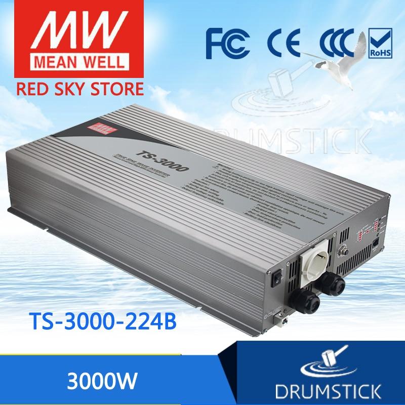 цена на Hot sale MEAN WELL TS-3000-224B EUROPE Standard 230V meanwell TS-3000 3000W True Sine Wave DC-AC Power Inverter