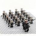 21 stücke Offizier Soldat WW2 Deutsch Armee Pferd Truppe Military SWAT Team Waffe Bausteine Bricks Pädagogisches Spielzeug Jungen-in Sperren aus Spielzeug und Hobbys bei