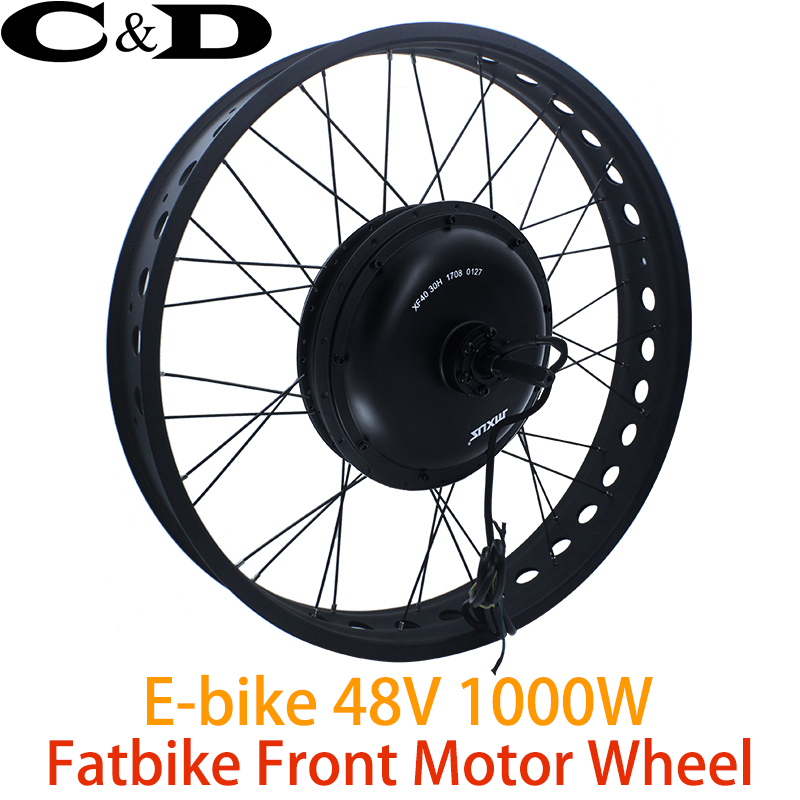 Front Wheel Direct Drive motor 20 26 MXUS XF40 48V 1000W Fat bike e bike kit
