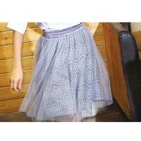 New Girls Summer Denim Bow Skirts Girls tutu 6 8Year Fluffy cotton Baby tutu skirts girls Princess Dance Party children skirt