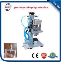 Pneumatic perfume capping machine  Semi-automatic perfume bottle crimper machine