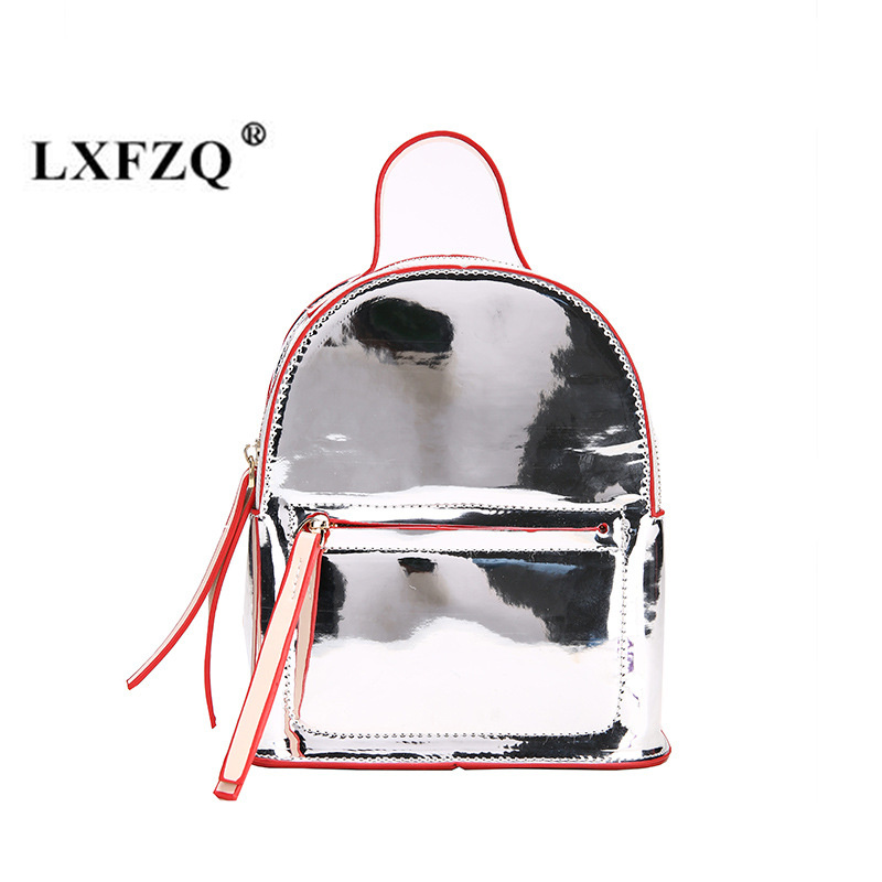 LXFZQ New school bags Fashion hologram bag Reflective Small Backpack for girls Holographic Backpack Laser Multicolor sac a dos рюкзак sprayground pixel shark backpack b188 multicolor