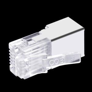 Image 5 - 50 шт., длинный корпус RJ11 RJ12 6P6C, телефонный соединитель FTP, 6 ядер, кристальная головка для телефона, модульная вилка, щит, медный корпус