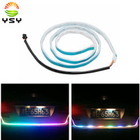 1Set New Car Styling RGB Dynamic Streamer Turn Signal Tail Trunk Lights LED Warning Light LED