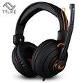 Ttlife x7 gaming graves profundos fone de ouvido com fio do fone de ouvido de alta qualidade cabeça fones de ouvido estéreo com microfone para pc gamer