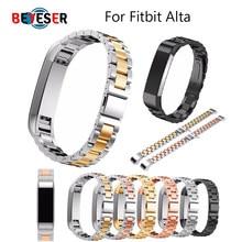 Alta qualidade de metal aço inoxidável pulseira para fitbit alta relógio acessórios banda link cinta para fitbit alta hr pulseira cinto