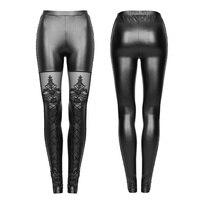 Gothic leggings Women Steampunk Fashion Black Strechy Women Pants Victorian Style Sexy Lace Legging Ladies mujer