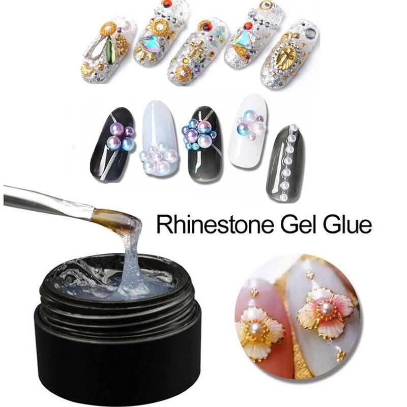 8ml Super Sticky Glitter Glue UV Gel Nail Art Rhinestones Gem Jewelry Decoration Accessory Super Sticky Adhesive Nail Gel