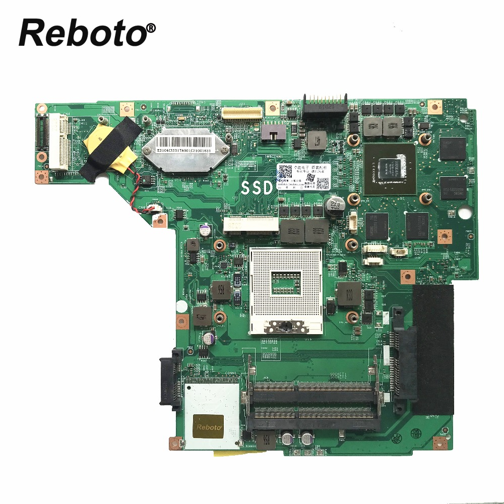 Reboto FOR MSI GE70 laptop motherboard Mainboard MS 17561 DDR3 PGA 989 N13P GT A2 GT650M