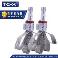 TC X H4 H7 H11 9005 9006 LED Car Headlight Bulbs Hi Lo Beam Auto 12V