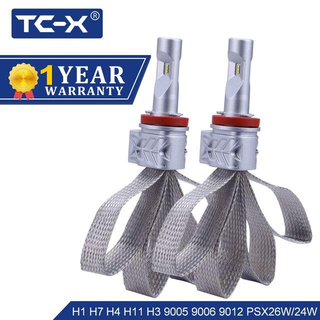 TC-X Lumileds ZES LED H4 Hi/Lo H7 LED H11 H1 9006/HB4 9005/HB3 9012 P13W H13 9007 9004 H16 H3 PSX26W LED Car Headlight ptf light