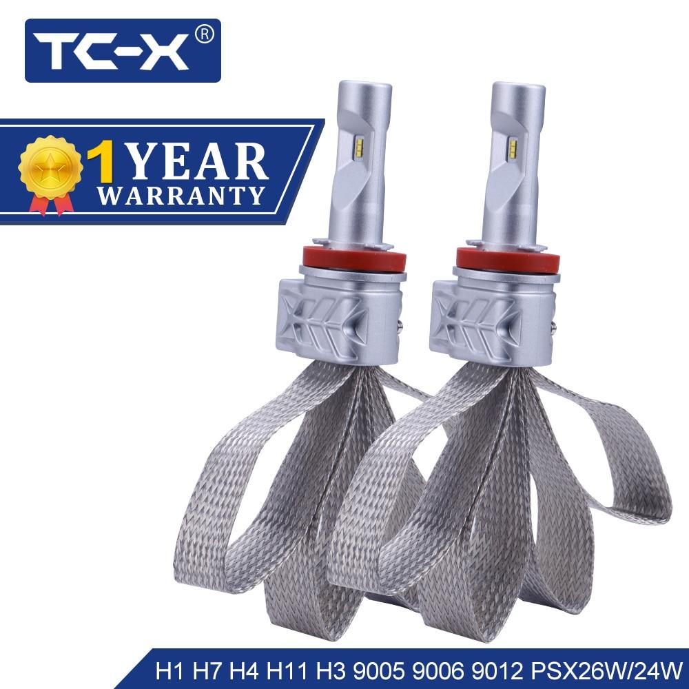 TC-X Lumileds ZES LED H4 Hi/Lo H7 LED H11 H1 9006/HB4 9005/HB3 9012 P13W h13 9007 de 9004 PS X 24 W PSX26W LED de la linterna del coche de la ptf Luz
