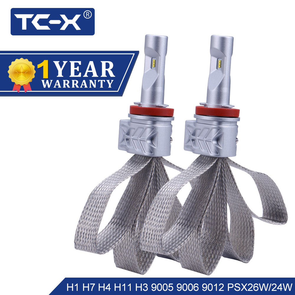 TC-X Lumileds ZES LED H4 Salut/Lo H7 LED H11 H1 9006/HB4 9005/HB3 9012 H16 h13 9007 9004 ps X 24 w PSX26W LED Phare De Voiture ptf lumière