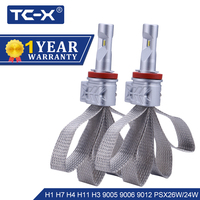 TC X H4 H7 H11 9005 9006 LED Car Headlight Bulbs Hi Lo Beam Auto 12V