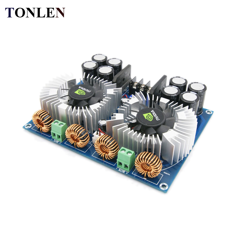 TONLEN TDA8954TH Digital Audio Amplifier Board High Power Dual-core AD Class Amplifier Module 420W*2 2.0 DIY Amplifiers kit цена