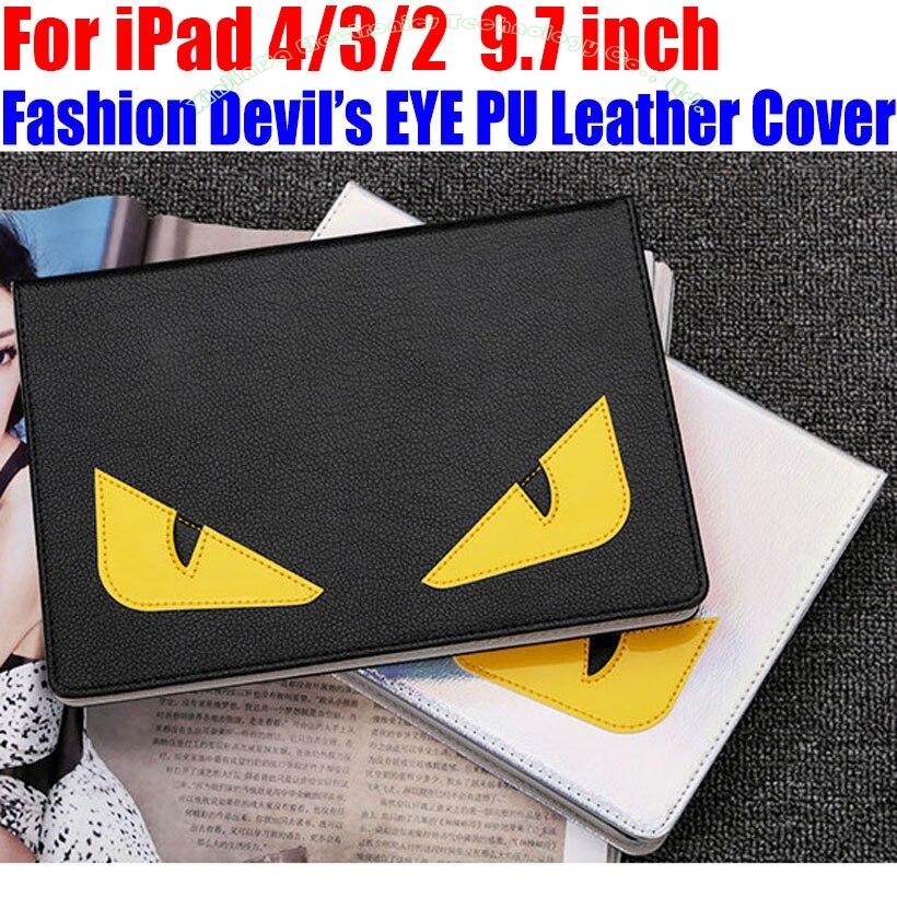 Чехол Smart Case для IPad 4 3 2 9,7 дюймов модные дьявол s глаз PU кожаный чехол IM414 ...