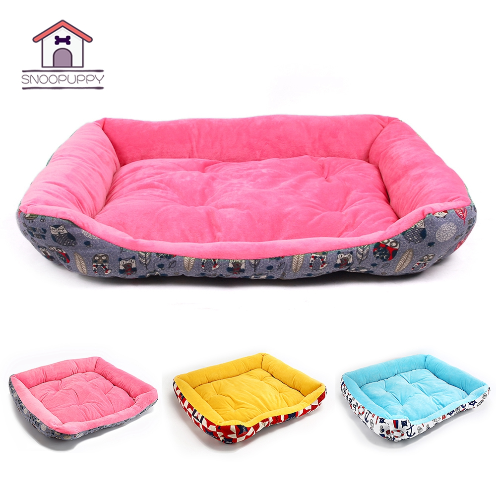 Colorful Pet Dog Bed Cotton Warm House for Dogs Mat Pets for Large Small Dog Cushion Bed Winter Breathable Waterproof Bed COO040