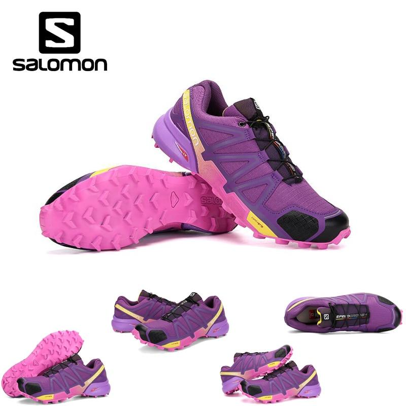 2018 Salomon Speed Cross 4 Free Run Salomon Sport Shoes for Woman Jogging Outdoor Breathable Dapming Sneakers Shoes 36-42 3COLOR шапка salomon salomon free желтый