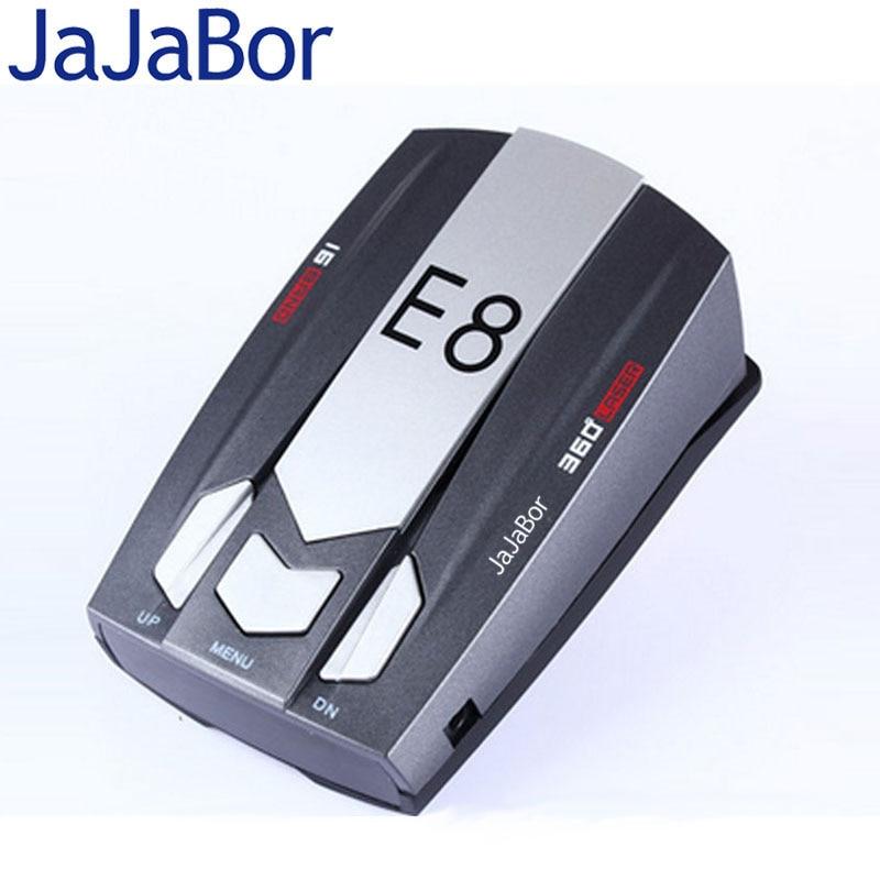 imágenes para JaJaBor E8 16 Banda de 360 Grados con Láser Detector Del Radar Del Coche Ruso/Inglés Voz de Advertencia de Control de Velocidad del Vehículo Advertencia Detector