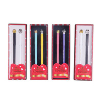 M G Treasure Crown Pen Set 0 5mm Black Neutral Pen Metal Couple Gift Pen