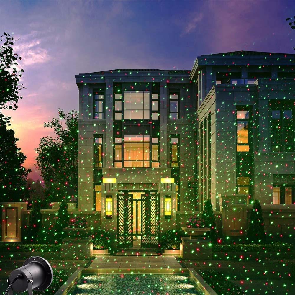 Star Laser Light Red  Green Outdoor lights Projector Christmas Lights IP65 Waterproof