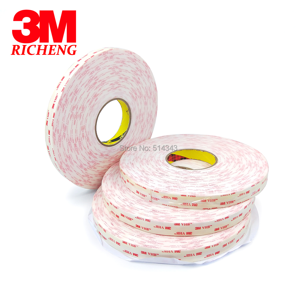 3M 4950 Double Sided VHB Acrylic Foam Tape self adhesive transparent holographic film 20MM*33M 1Roll/Lot