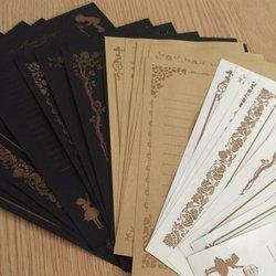 Conjunto de 24 estilo retro design de renda escrita papel de papelaria, 3 estilos, cada estilo 8 tipos de diferentes padrões