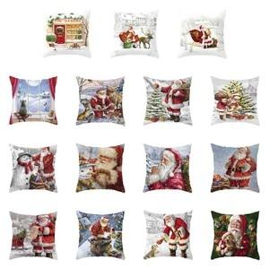 Christmas Pillow Case Deer Sno
