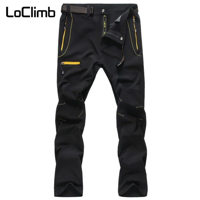 e6ae4f17c6b LoClimb Men s Stretch Multifunction Hiking Pants Men Summer Outdoor Sport  Quick Dry Trousers For Trekking Cycling Climbing