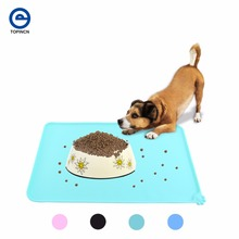 Wipe Clean Pet Supplies Pet Dog Puppy Cat Feeding Mat Pad Cute Silicone Bed Dish Bowl Food Water Feed Placemat 4 Colors
