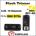 Meike MK-RC7 N2 16 Channel Wireless Remote Speedlite Flash Trigger Transceivers for Nikon D70S D80 DSLR Camera