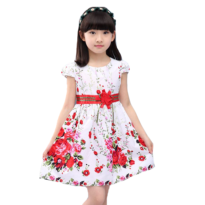 Princess Party Dresses For Girls Wedding Dresses Floral Print Kids Prom Dresses Summer Children Sundress 2 3 4 6 8 9 10 12 Years
