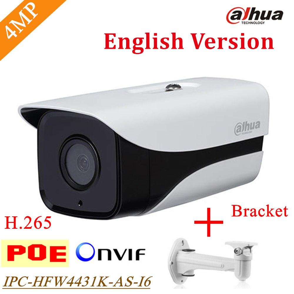 Dahua Stellar IP Camera IPC-HFW4431K-AS-I6 4MP POE SD Card slot Support Onvif IR Bullet camera Security Camera HFW4431K-AS-I6 original dahua stellar camera 4mp dh ipc hfw4431k i6 network ip ir bullet h265 h264 sd card slot ipc hfw4431k i6