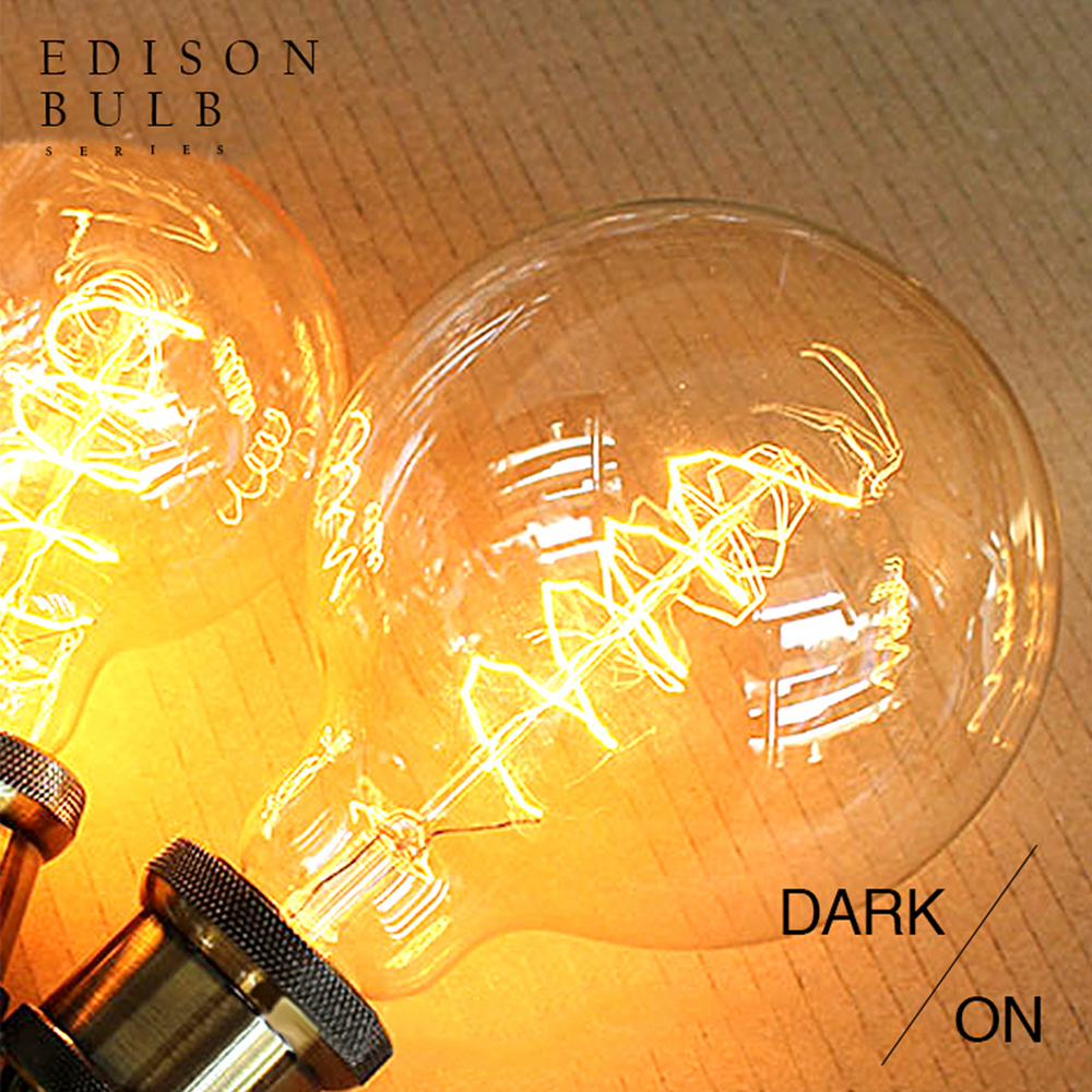 Vintage edison light bulb G95 incandescent decorative bulb E27 110 220V Filament bulb antique retro Edison