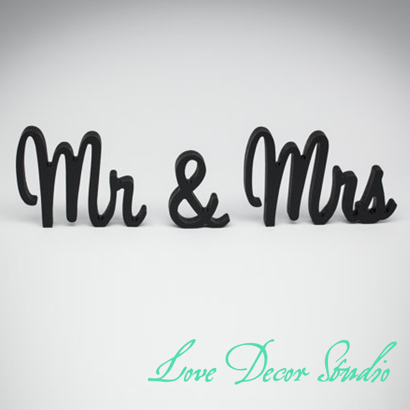 Blackhandpainted Mr And Mrs Wedding Sign Wedding Reception Sign