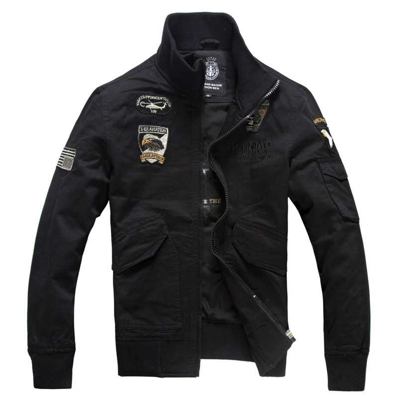 Men Bomber Jacket Air Force Pilot Military Tactical Jacket Uniforms Man Casual Autumn Cotton Bomber Jackets Coat Clothes M-4XL