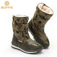 Children Boots For Women And Men Shoes Army Camouflage Winter Snow Boots Waterproof Antiskid Winter Boots