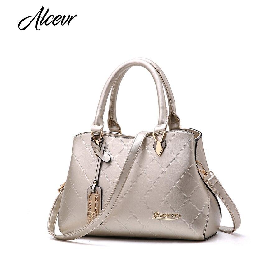 ALCEVR новые модные женские сумки Высокое качество из искусственной кожи геометрический плед Для женщин Crossbody сумки Сумка Для женщин универса...