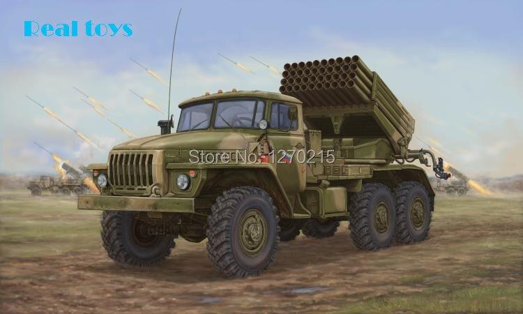trumpeter 01014 - Trumpeter model 01014 1/35 Russian BM-21 HAIL MRL LATE