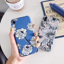 For iphone X Case For iPhone XR XS Max 6 6S 8 7 Plus Back Cover Luxury Floral Soft TPU Phone Case Vintage Coque Fundas Capa
