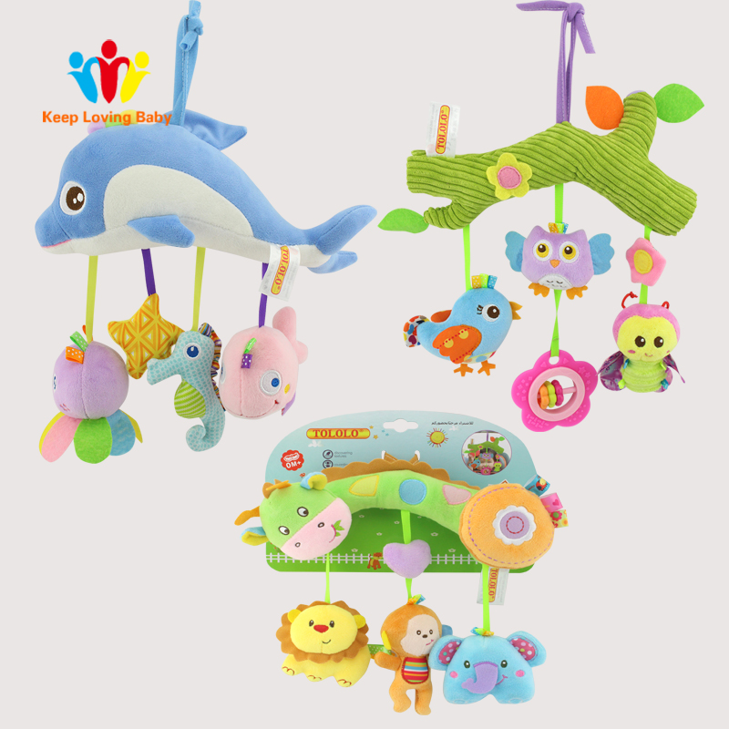 Baby Toys Infant Baby Crib Mobile Newborn Bed Stroller Pendant Toys Cartoon Rattles Soft Plush Toy 0-12 months