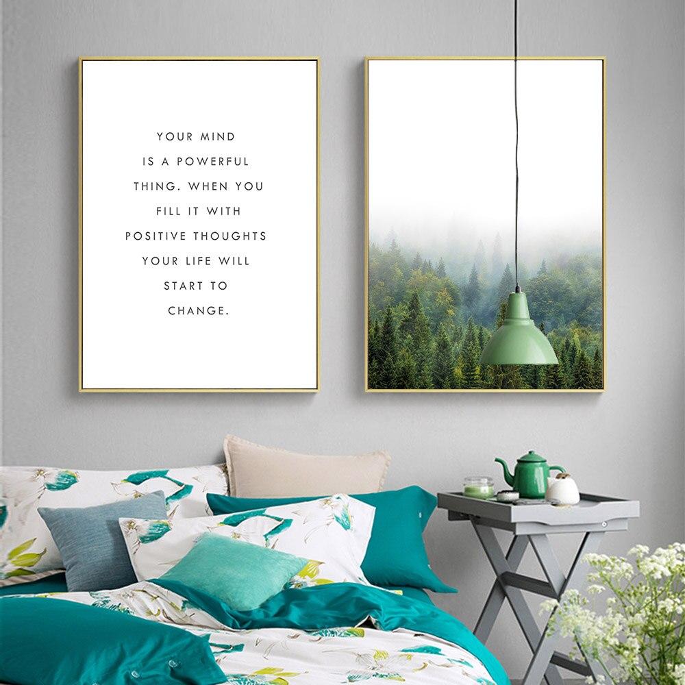 Nordischen Stil Wald Motivation Zitieren Leinwand Poster Druckt ...