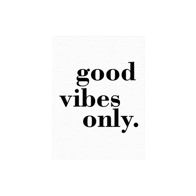 good vibes only canvas paintings black white quotes nursery wall