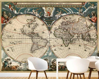 beibehang HD fashion home decoration painting wallpaper retro nostalgic nautical map backdrop wall papel de parede 3d wallpaper