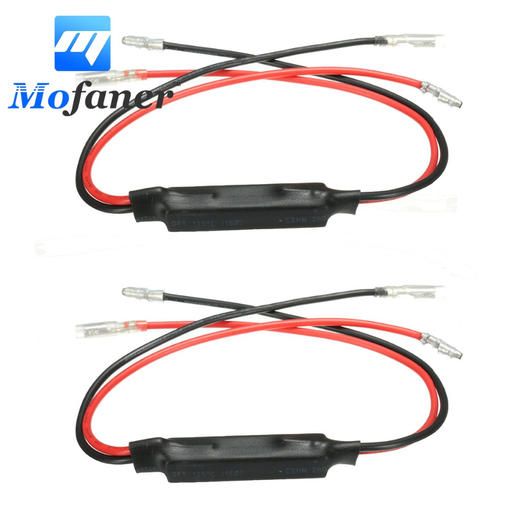 1 Pair Motorcycle Indicator Turn Signal Light Resistors 12V 10W 10 Ohm LED Light Load Resistor Flasher Flash Blinker