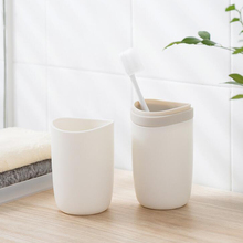 Nordic Simplified Style Fine Plastic Toothbrush Cup Hotel Traveling Bathroom Tumblers Accessories Tooth Brush Mug