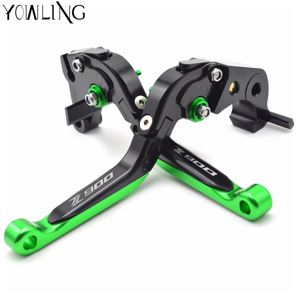 YOWLING motorcycle Adjustable Long Brake Clutch Levers For Kawasaki Z900 2017 Motorbike CNC Brakes Logo Z900 LOGO billet adjustable long folding brake clutch levers for kawasaki z750 z 750 2007 2008 2009 2010 2011 07 11 z800 z 800 2013 2014