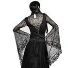 Gothic Schwarz Damen Sexy Spitze Verstellbare Bandage T shirt Halloween Spider Web Lang Flare Sleeve Shirts Tops Tees PUNK RAVE T 449 - 3