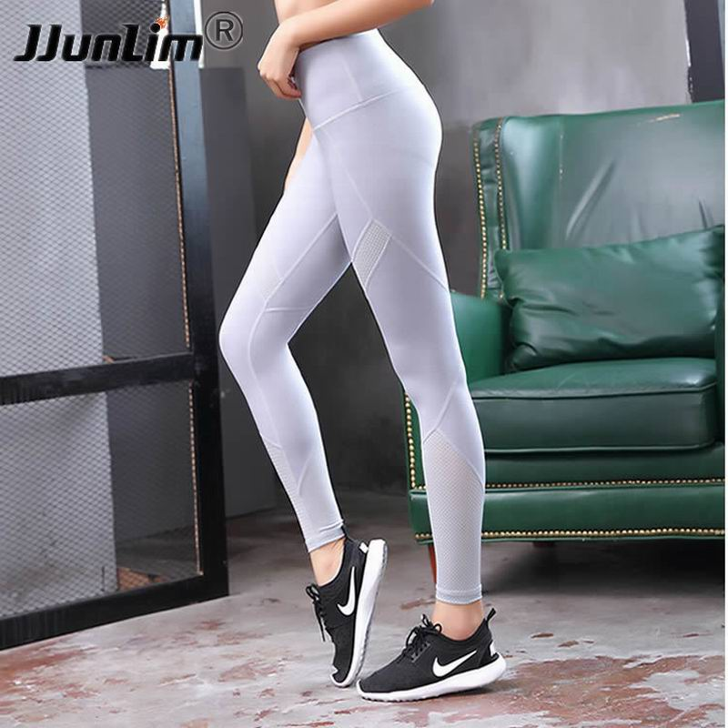 Mesh Yoga Pants Women High Waist Fitness Sport Leggings -8640